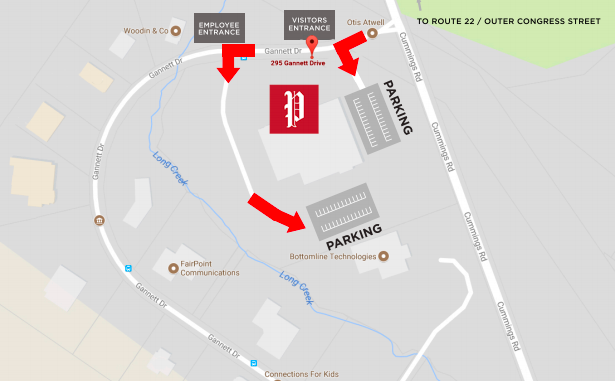 Where to park at the Portland Press Herald
